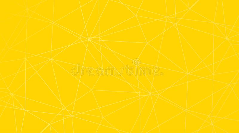 Gele abstracte driehoekige vectorachtergrond royalty-vrije illustratie