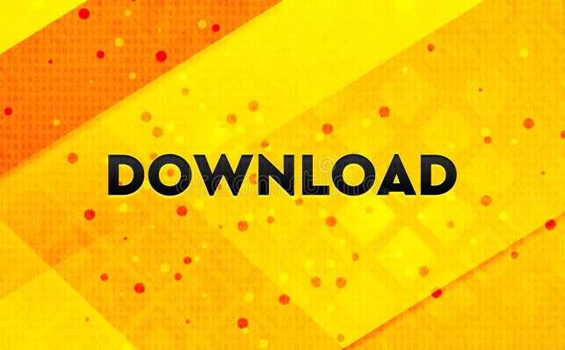 Gele achtergrond van de download de abstracte digitale banner royalty-vrije illustratie