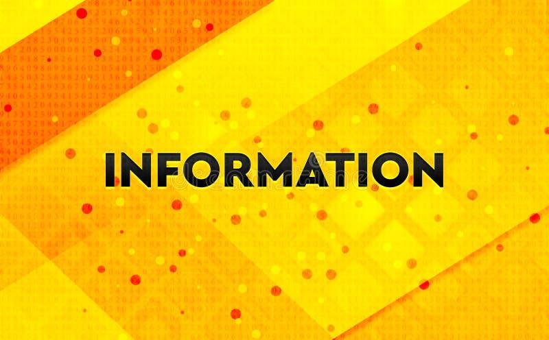 Gele achtergrond van de informatie de abstracte digitale banner vector illustratie
