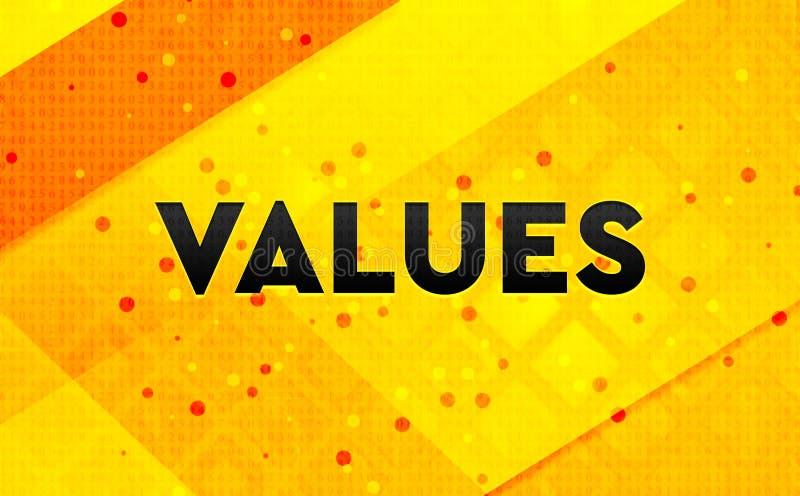 Gele achtergrond van de waarden de abstracte digitale banner stock illustratie