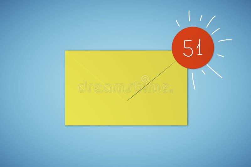 Gele app envelop royalty-vrije illustratie