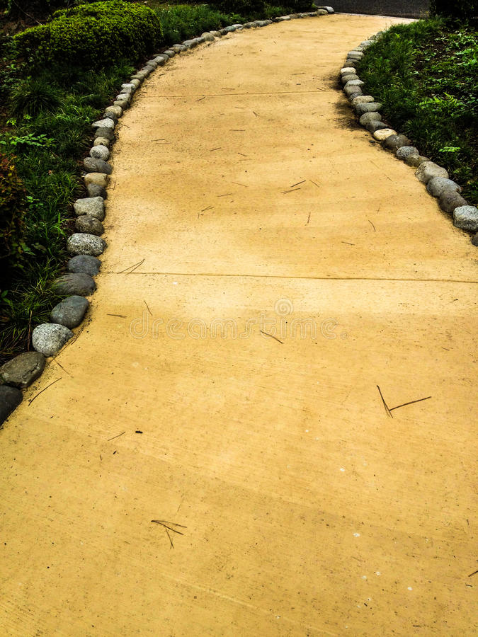 Gele baksteenweg stock foto