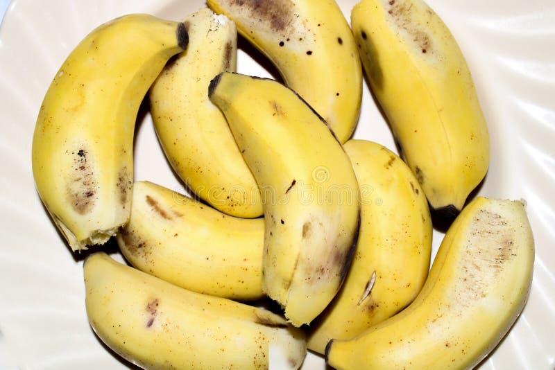 Gele banaan stock afbeelding
