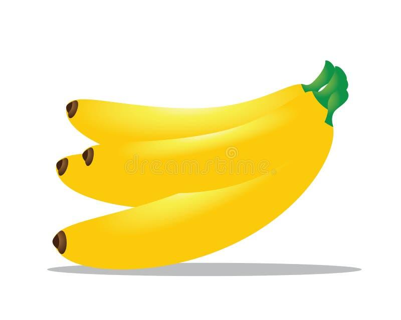 Gele banaanillustratie vector illustratie