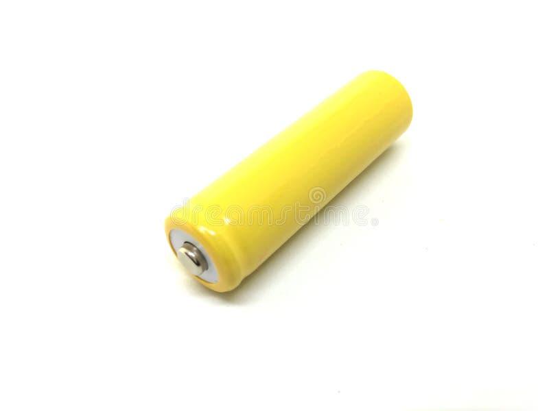 Gele batterij stock foto