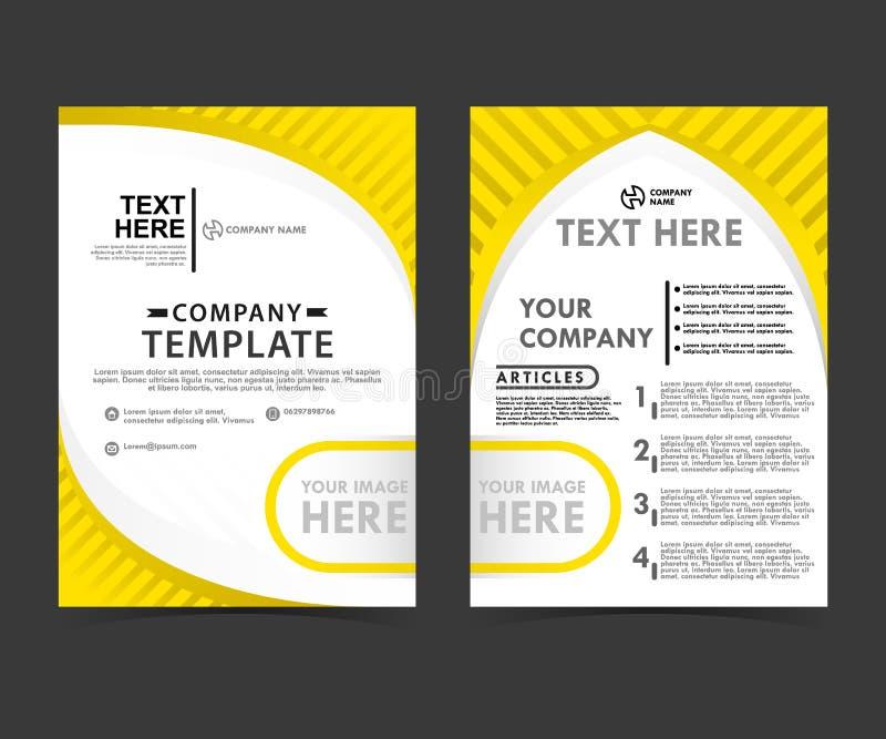 Download Gele Bedrijfs Flayer Conceptenmalplaatjes Vector Illustratie - Illustratie bestaande uit catalogus, grafisch: 114227708