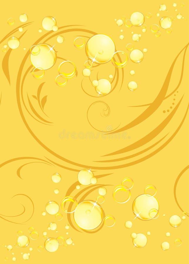 Gele bellen op de decoratieve achtergrond stock illustratie