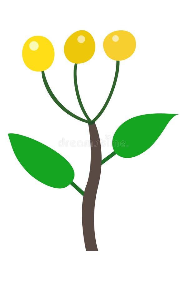 Gele bessenillustratie stock foto's