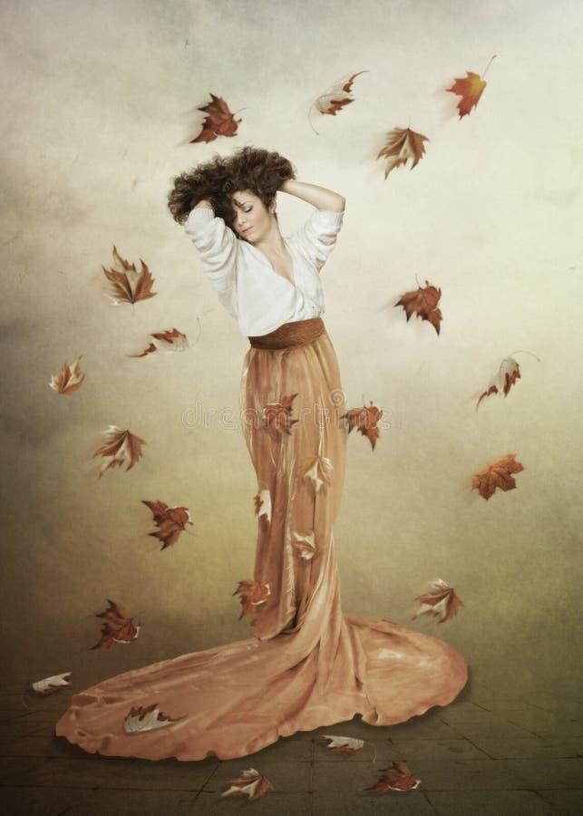 Gele bladeren royalty-vrije illustratie