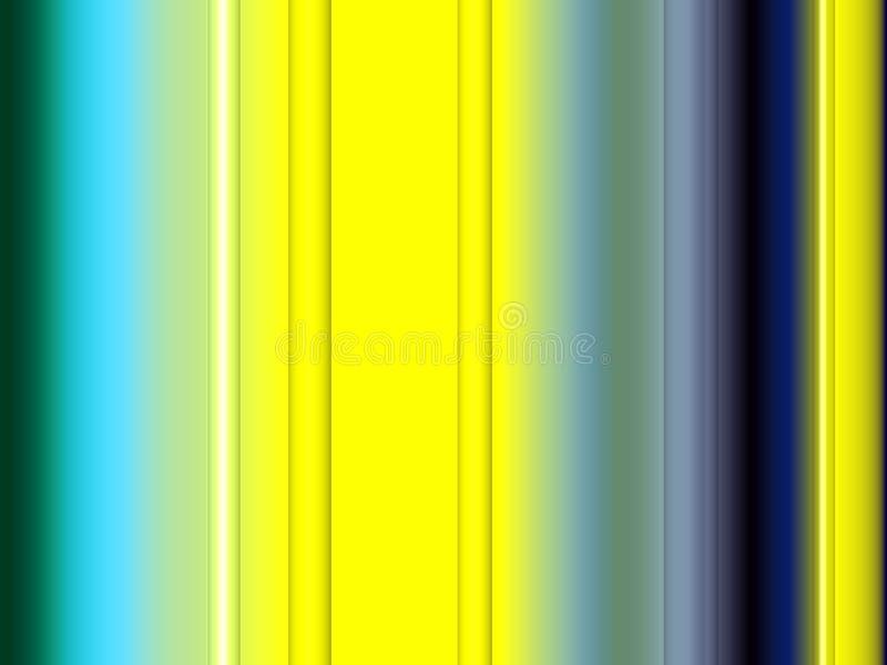 Gele blauwe contrasten, fonkelende vormen, lijnen, fonkelende achtergrond, grafiek, abstracte achtergrond en textuur stock illustratie