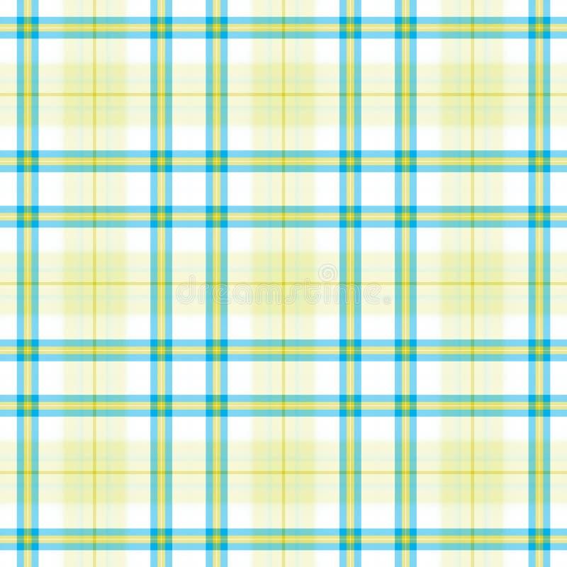 Gele Blauwe Plaid royalty-vrije illustratie