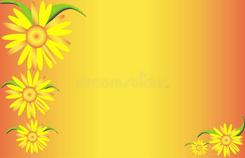 Gele Bloemen stock illustratie