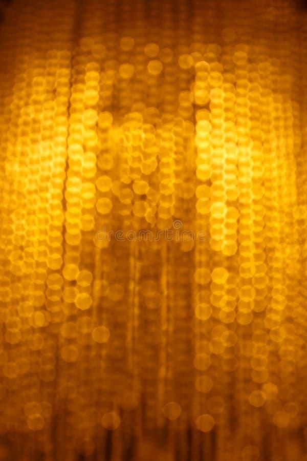 Gele bokeh heldere abstractie van hoogtepunten stock foto