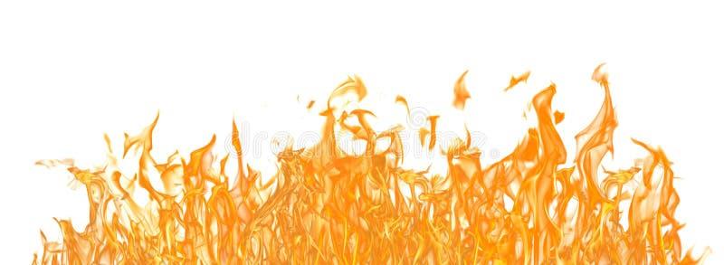 Gele brand lange die strook op wit wordt geïsoleerd royalty-vrije stock foto's
