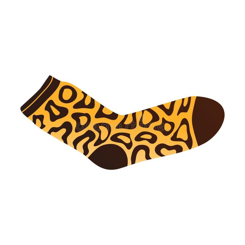 Gele bruine kleurensok met sier Afrikaanse tekens vector illustratie