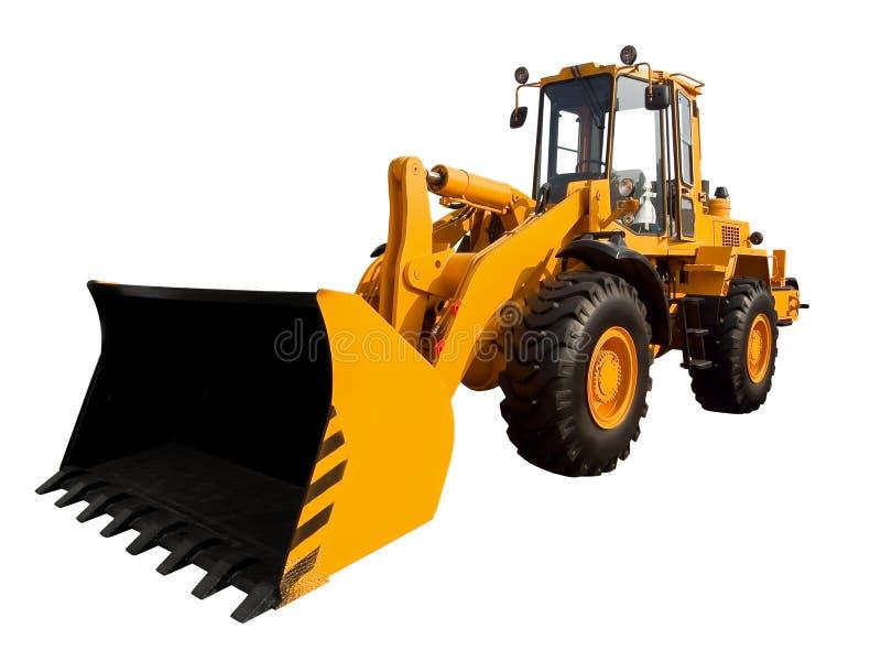 Gele buldozer royalty-vrije stock afbeeldingen