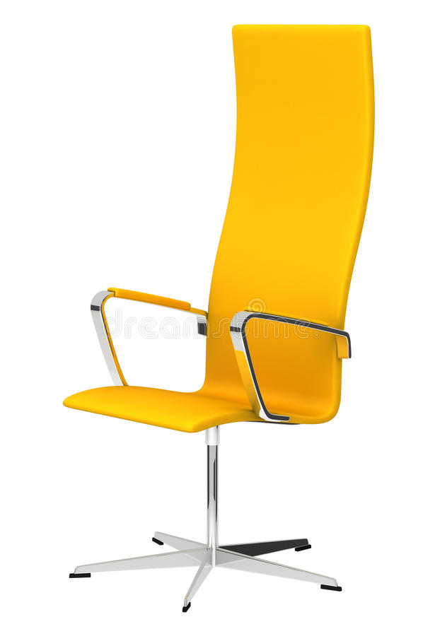 Gele bureaustoel stock illustratie