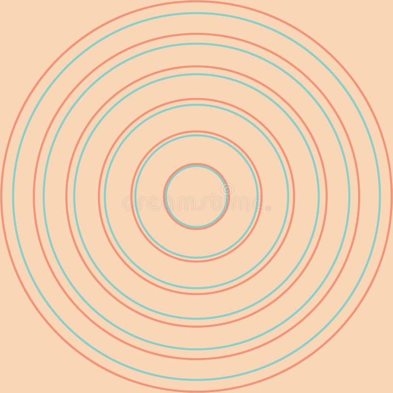 Gele Cirkels in rijen vector illustratie