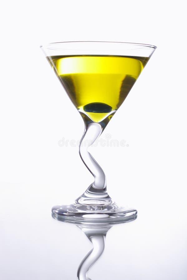 Gele cocktail royalty-vrije stock afbeeldingen