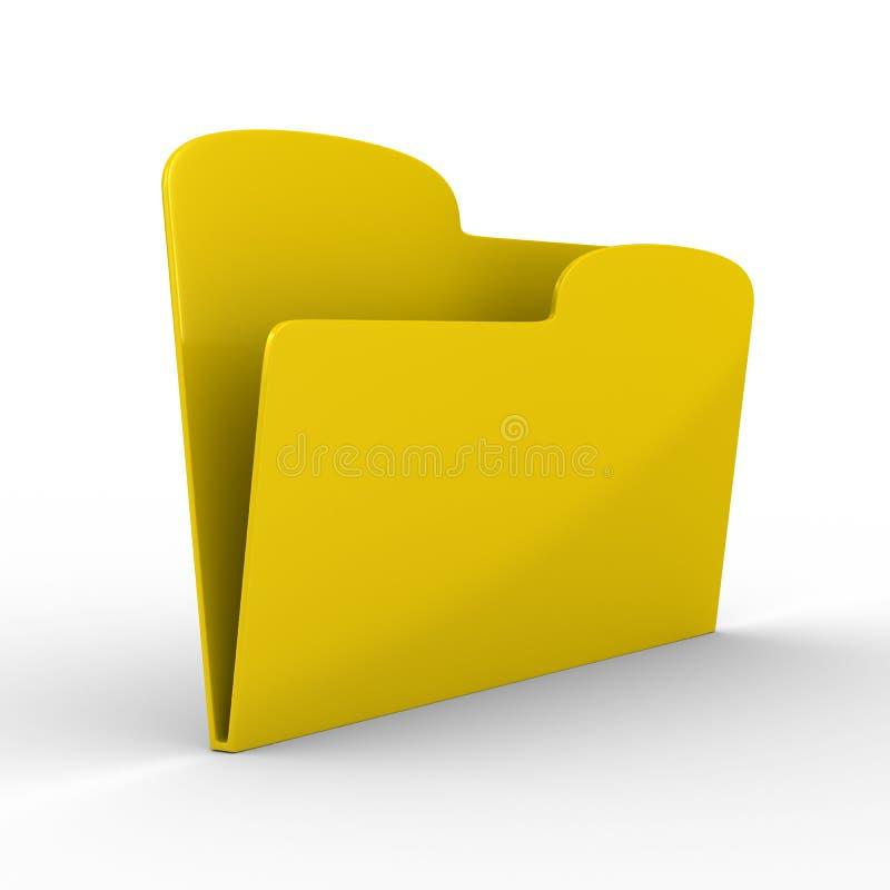 Gele computeromslag op witte achtergrond vector illustratie