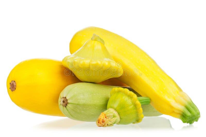 Gele courgette stock afbeeldingen