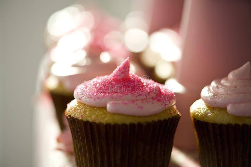 Gele cupcake   stock afbeeldingen