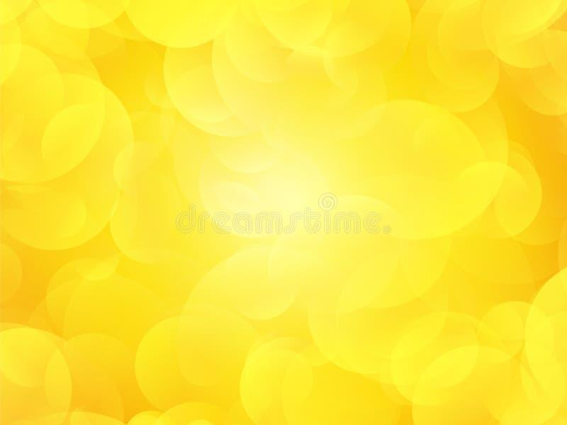 Gele de zomerachtergrond vector illustratie