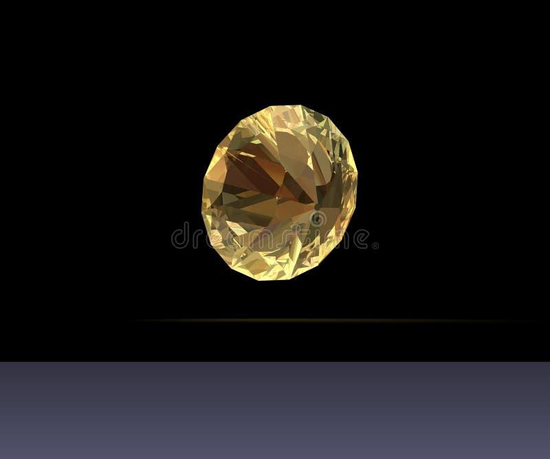 Gele diamant stock afbeeldingen