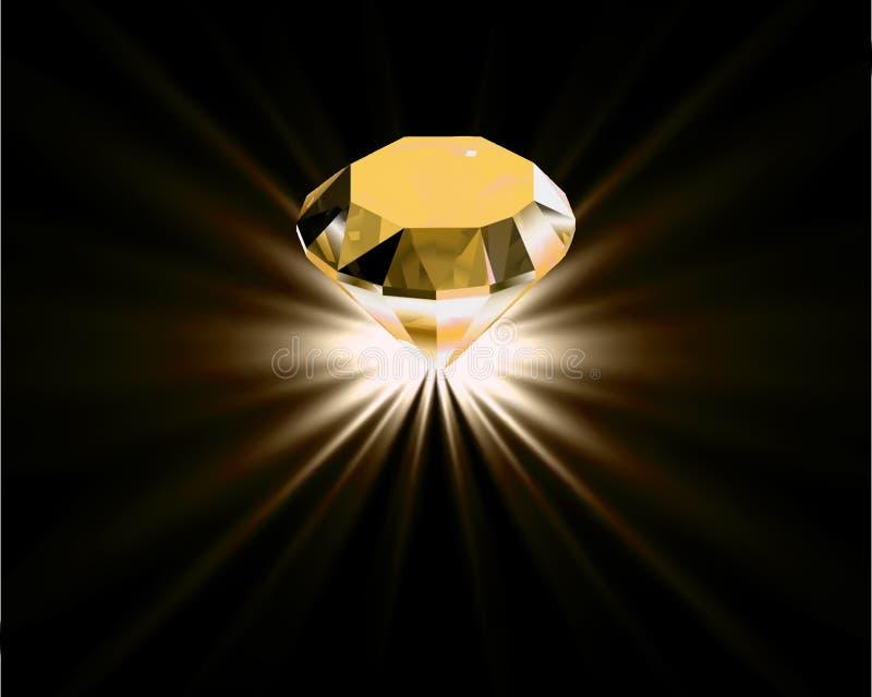 Gele diamant. Vector vector illustratie