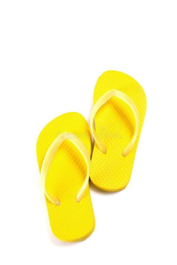 Gele die de zomerwipschakelaars op wit worden geïsoleerd stock fotografie