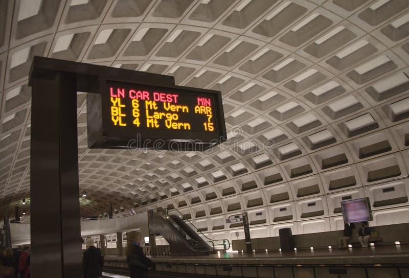 Gele en Blauwe Metro van de Lijn D.C. royalty-vrije stock afbeeldingen