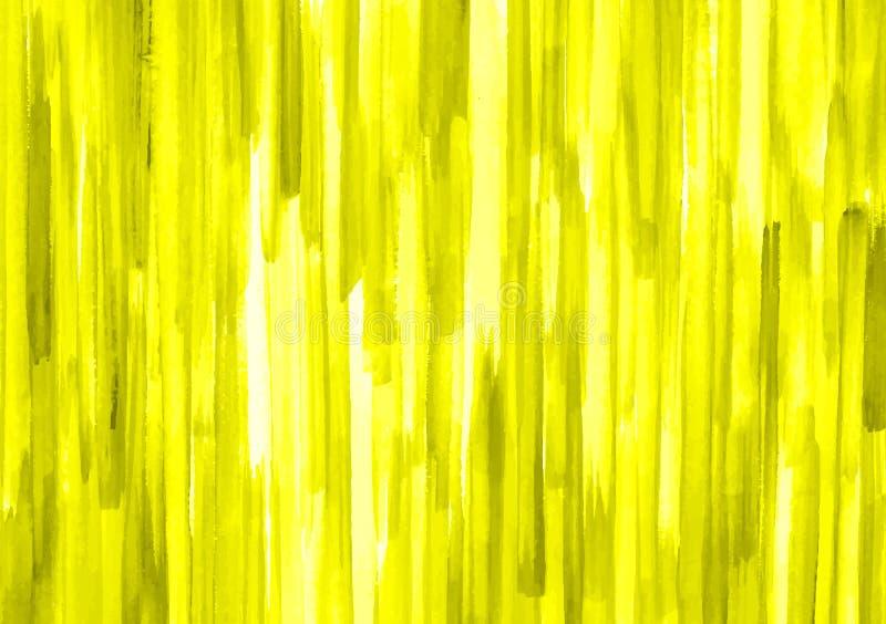 Gele en groene stroken van kwaststreken royalty-vrije illustratie