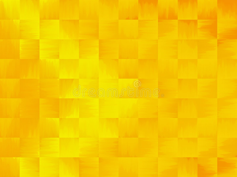 Gele en Oranje Samenvatting stock illustratie