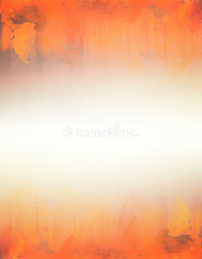 Gele en oranje waterverf abstracte textuur als achtergrond stock fotografie