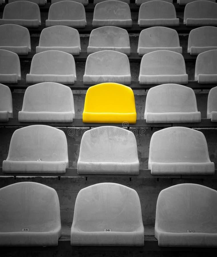 Gele exclusieve zetel stock foto