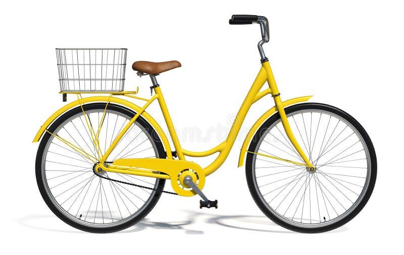 Gele fiets stock foto's