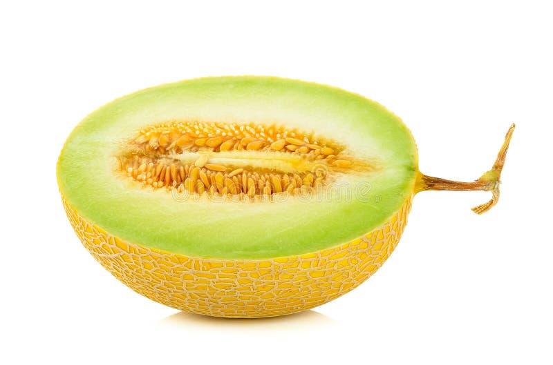 Gele geïsoleerde Kantaloepmeloen stock fotografie