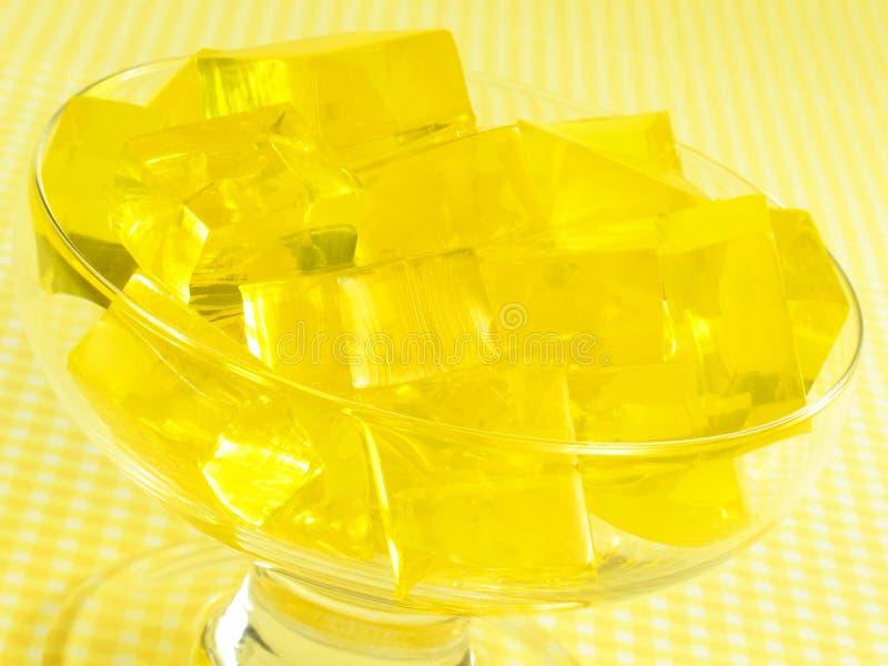 Gele Gelatine royalty-vrije stock afbeeldingen