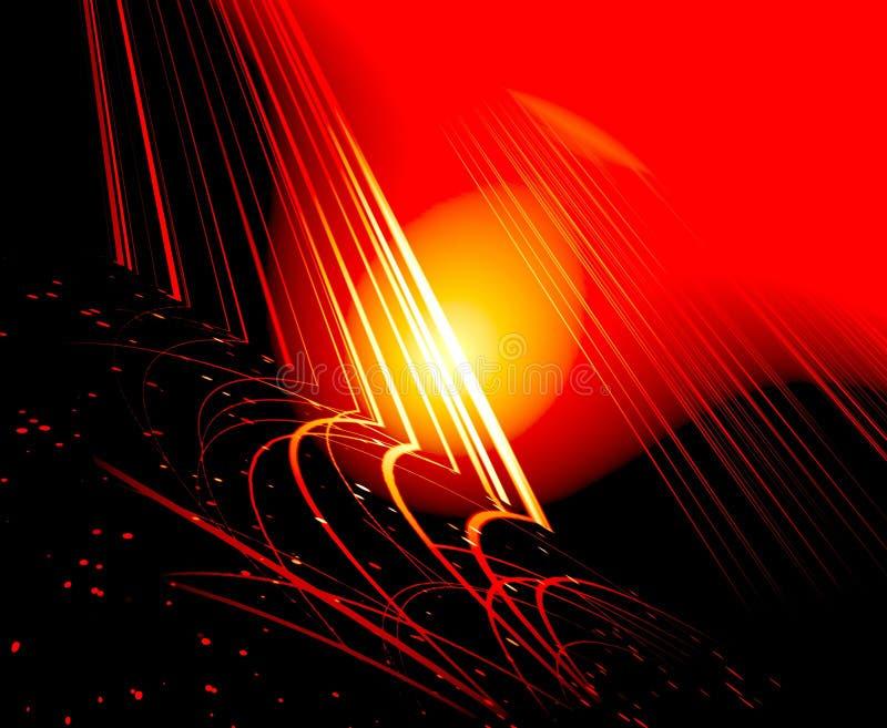Gele gloed vector illustratie