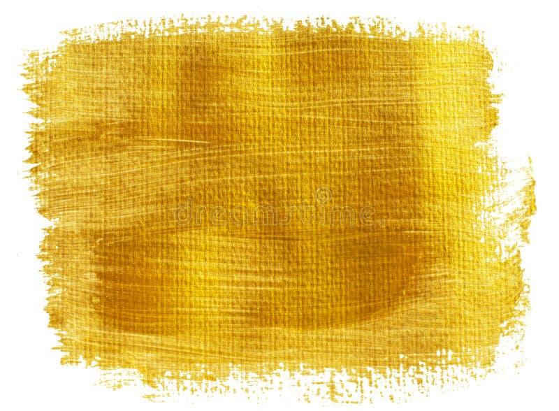 Gele goud geschilderde banner stock fotografie