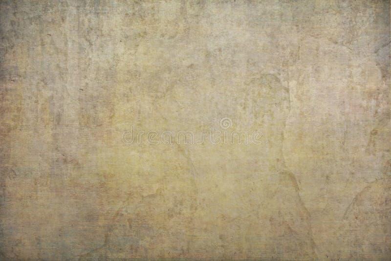 Gele, goud geschilderde canvas of de doekstudio van de mousselinestof backdr royalty-vrije stock afbeeldingen