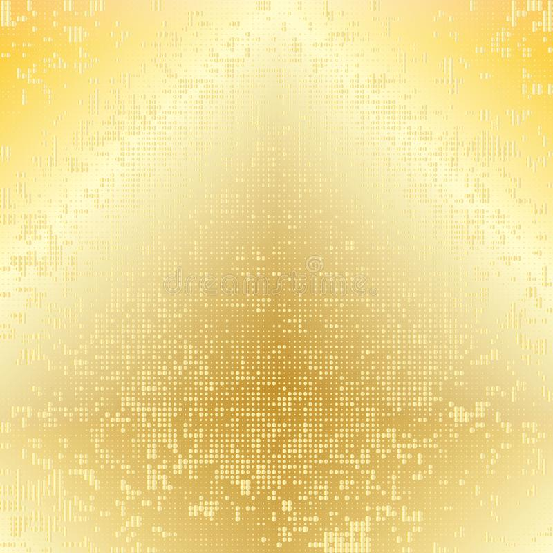 Gele goud gestippelde achtergrond royalty-vrije illustratie