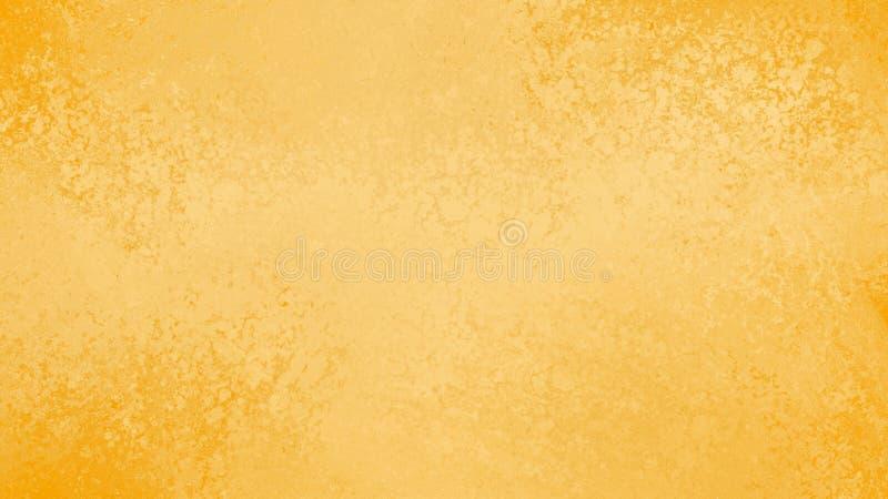Gele gouden achtergrond met het uitstekende ontwerp van de grungetextuur vector illustratie