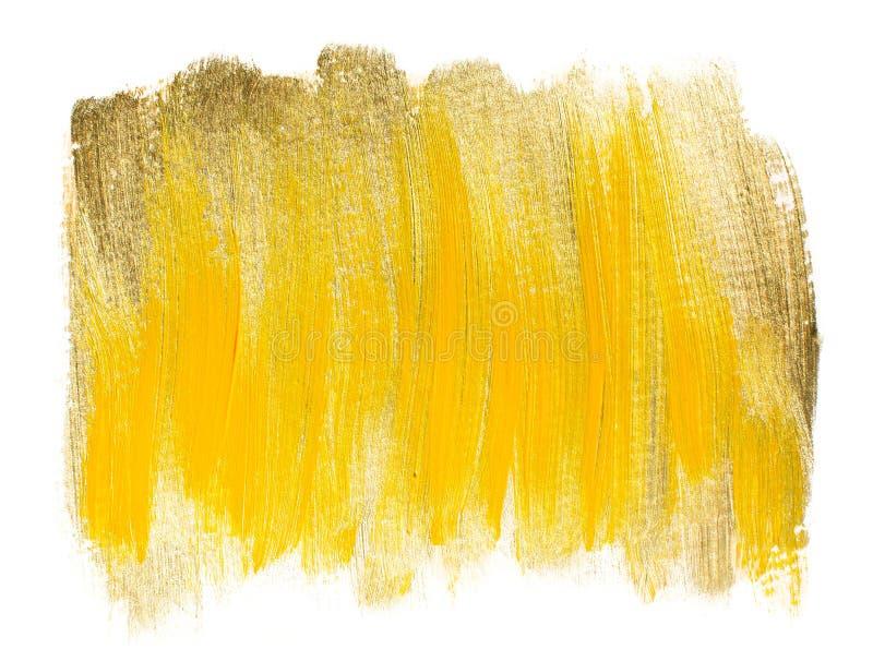 Gele gouden acrylachtergrond stock fotografie