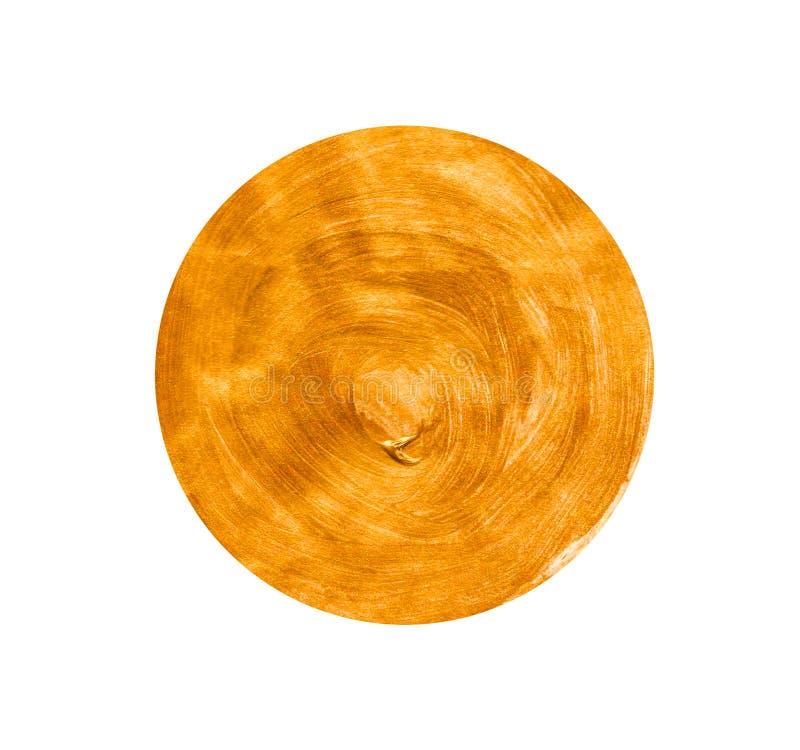 Gele gouden cirkel royalty-vrije stock foto's