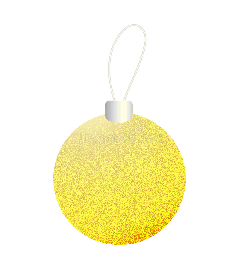 Gele gouden Kerstmisbal royalty-vrije illustratie
