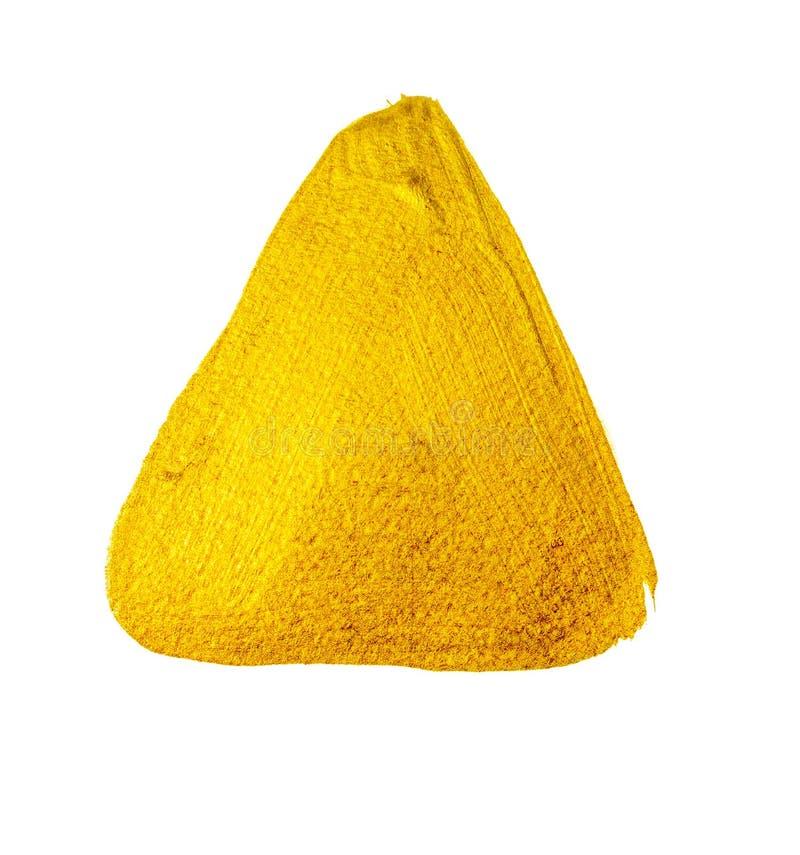 Gele gouden verfdriehoek stock foto