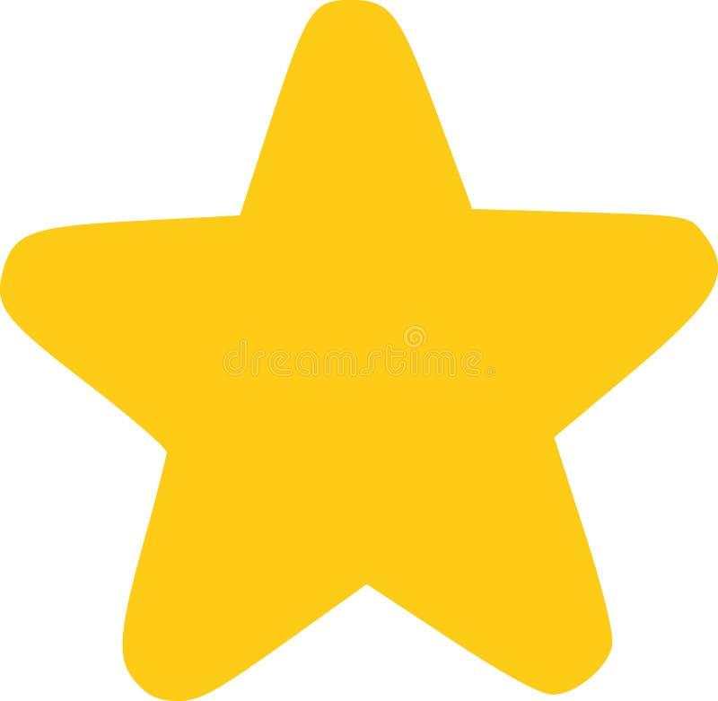 Gele grappige ster vector illustratie