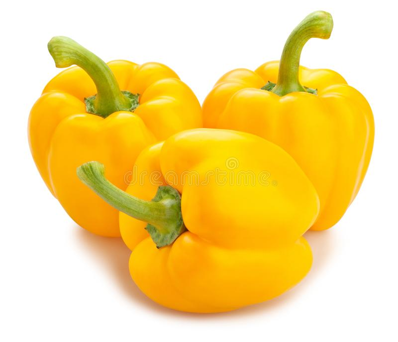 Gele Groene paprika stock afbeelding