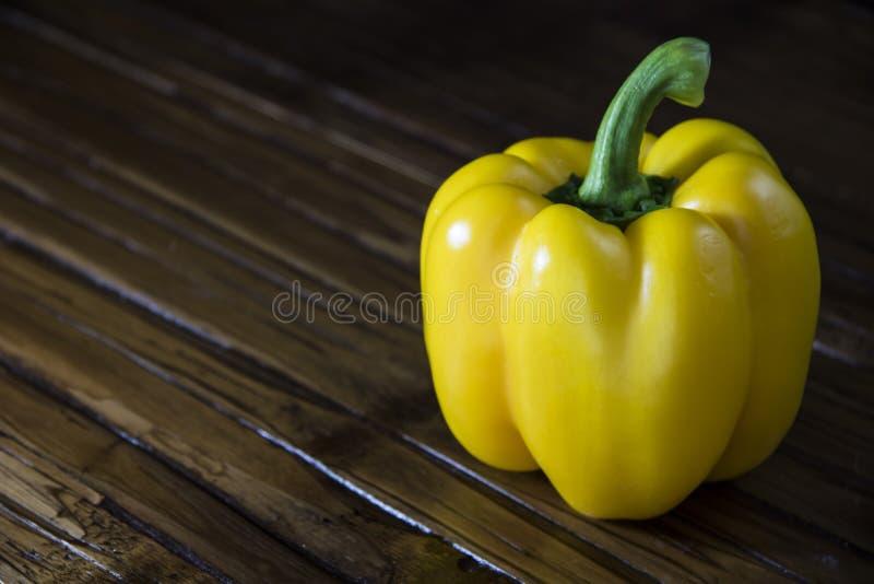 Gele Groene paprika stock afbeeldingen